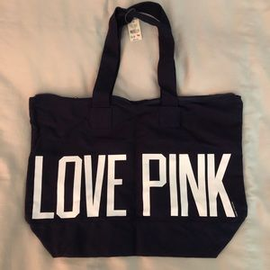 NWT! PINK by Victoria's Secret Canvas Tote